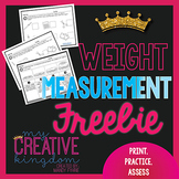Weight Measurement Freebie