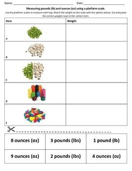 Weight Measurement Using Platform Scale
