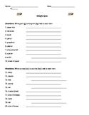 Weight Quiz - 3rd Grade VA SOLs