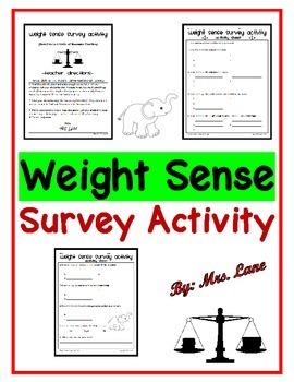 Weight Sense Survey Activity