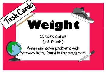 Weight Task Cards