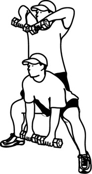 Weight Training Combo Lifts Clipart