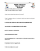 Weight Training Handout and Worksheet