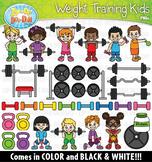 Weight Training Kids Clipart Set {Zip-A-Dee-Doo-Dah Designs}