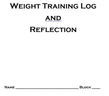 weight training log sheets