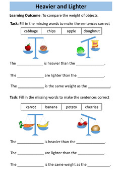 Weight Workbook - Special Education Math