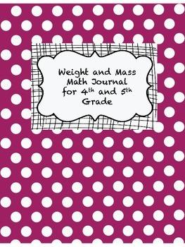 Weight and Mass Math Journal