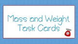 Weight and Mass Task Cards