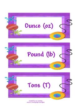 Weight - ounce (oz), pound (lb), ton (T) activity