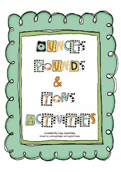 Weight (pound, ounces and tons) Activities Packet by Mrs ...