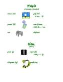 Weight/Mass Student Handout