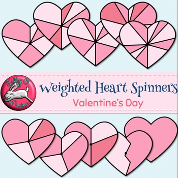 Valentine's Spinners Clip Art