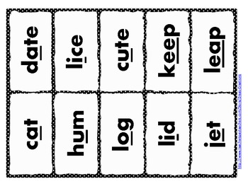 Weighted Words: Short and Long Vowel Sounds Word Sort