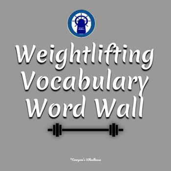 Weightlifting Vocabulary Word Wall