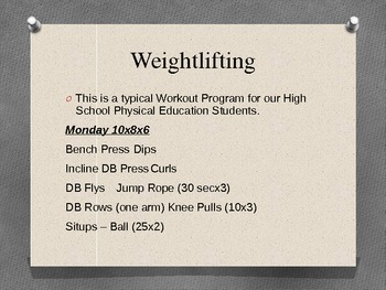 Weightlifting in Physical Education