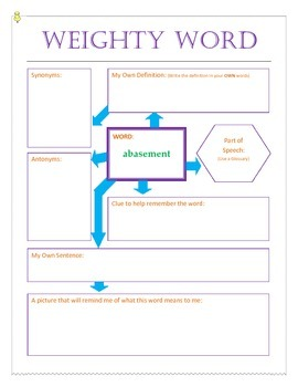 Weighty Words Worksheets