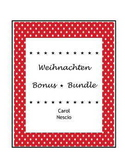 Weihnachten Bonus * Bundle ~ German Christmas Activities