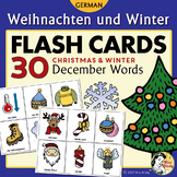 Weihnachten und Winter - German Christmas and Winter Flash Cards & Memory Game