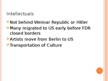 Weimar Culture Power Point