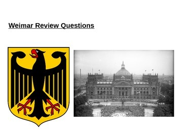 Weimar Germany 1918-23 Review Questions
