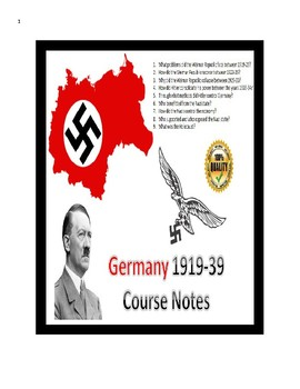 IB Authoritarian States - Hitler Entire Course Notes (1919-39) - 52 pages