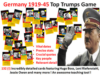 Weimar & Nazi Germany Top Trumps Game (132 cards)