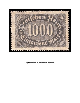 Weimar Republic Hyperinflation simulation game