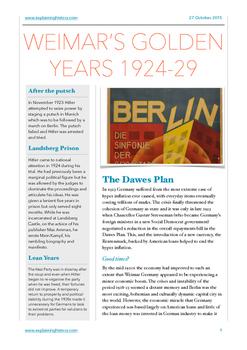 Weimar's Golden Years