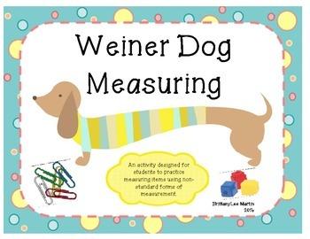 Weiner Dog Non-Standard Measurement Activity
