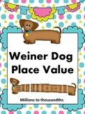 Weiner Dog Place Value