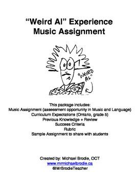 Weird Al Experience Music Assignment