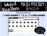 Weird & Random Math Mystery Facts *1-Digit by 2-, 3-, & 4-