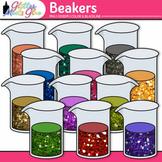 Rainbow Beakers Clip Art {Chemistry Lab Equipment for Scie