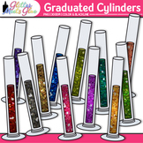 Chemistry Graduated Cylinder Clip Art | Rainbow Lab Equipment for Science