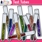 Rainbow Test Tube Clip Art {Chemistry Lab Equipment for Sc