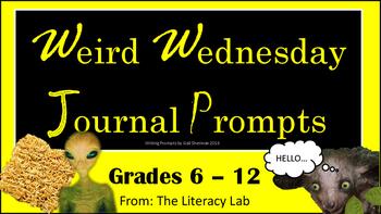 Weird Wednesday Journal Prompts