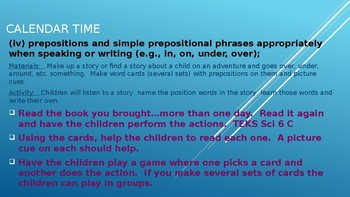 Week #16 Kinder Lesson Plans:  Oral and Written Conventions/Conventions