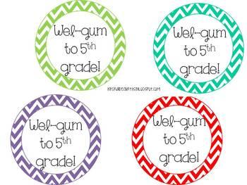 Wel-Gum Back treat tag