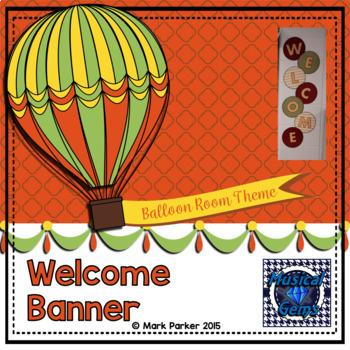 Welcome Banner - Hot Air Balloon Theme