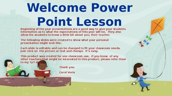 Welcome Power Point Lesson