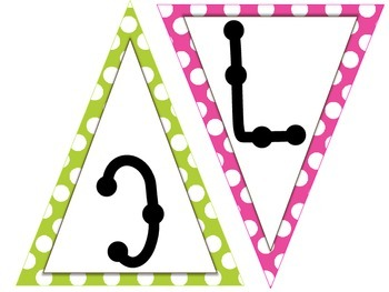 Welcome to Music - Bunting - Polka Dots