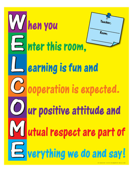 """Welcome- 8½"""" x 11"""""""