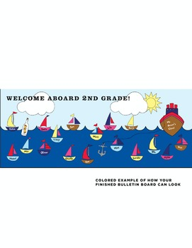 Welcome Aboard Classroom Bulletin Board DIY Kit