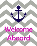 Welcome Aboard Gray and Pink Style