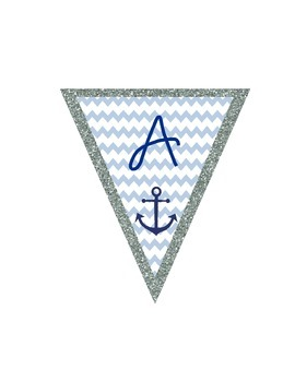 Welcome Aboard Nautical Banner Classroom Decor