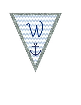 Welcome Aboard Nautical Banner Classroom Decor