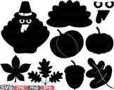 Welcome Autumn Fall Happy Thanksgiving Day Happy Pumpkins Clipart halloween 453S