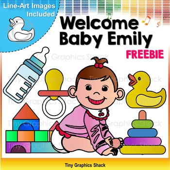 Welcome Baby Emily Clip Art Freebie