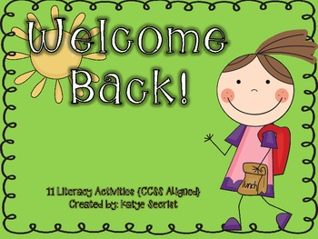 Welcome Back { 11 Back to School Literacy Activities CCSS Aligned}