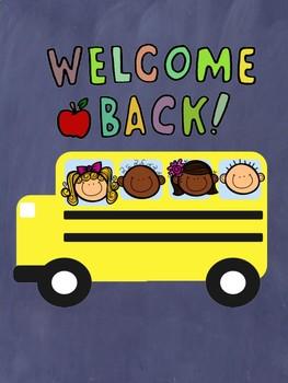 Welcome Back Activities